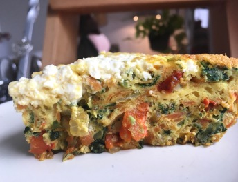 carrot-spinach-kuku-slice