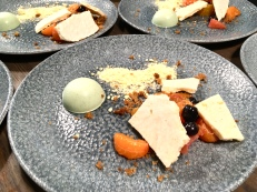 Cocorico Patisserie's sourdough icecream, mint panacota, mandarin salad
