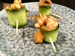 Courgette and Inner City Pickle Relish canape
