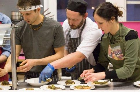 Jan (Anna Loka), Phil (Dusty Knuckle) and Lia (Lia's Kitchen)