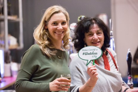 Katie Palmer (Food Cardiff) and Diane McCrea (Chair of Natural Resources Wales and friend)