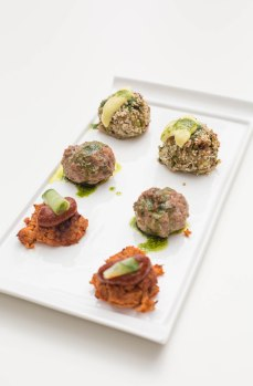 Penylan Pantry canapes for Wasteless #3 (fish and fennel, bacon and sausage and mixed veg)